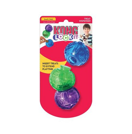 Boll Lock-it S 3-pack, Kong