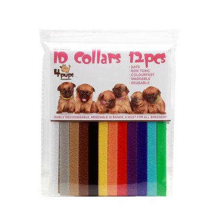 Halsband för valpar olika färger 12st