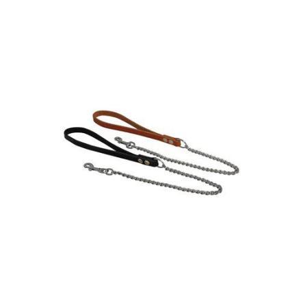 Koppel kedja med läderhandtag 70cm ljus- och mörkbrunt