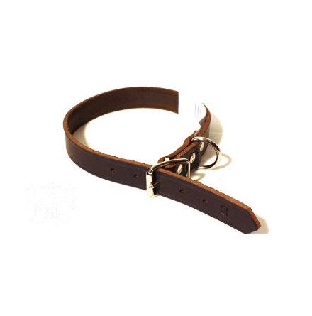 Halsband läder 18mm 45cm brunt