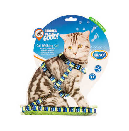 Kattsele set med koppel 20-35 cm/10 mm-125 cm olika mönster