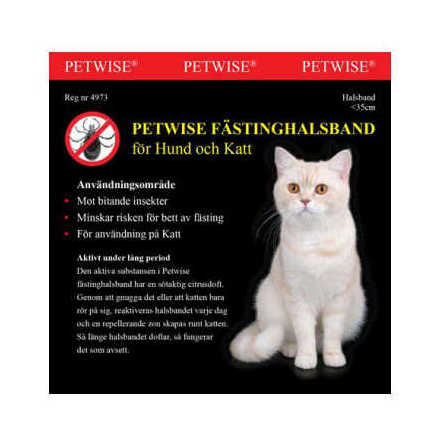 Fästinghalsband för katt <35 cm