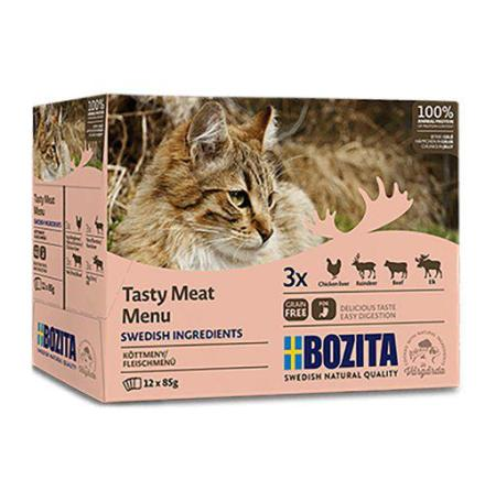 Bozita multibox kött i gele 12 x 85 g, spanmålsfritt