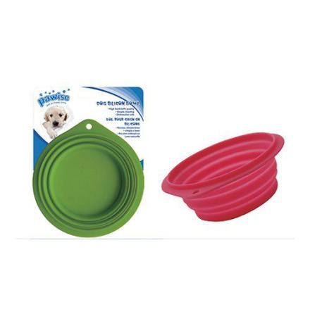Hopfällbar vattenskål, silikon 500 och 1000 ml blandande färger