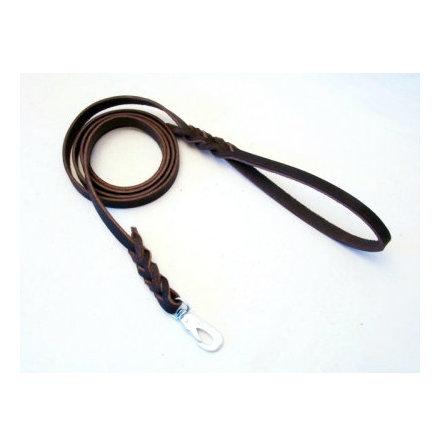 Koppel läder 9 mm flera längder mörkbrun
