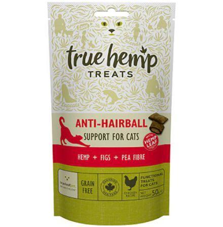 Kattgodis True Hemp anti-hairball naturgodis 50 g