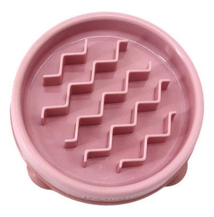 Matskål fun feeder slo-bowl XS 14x3 180 ml rosa