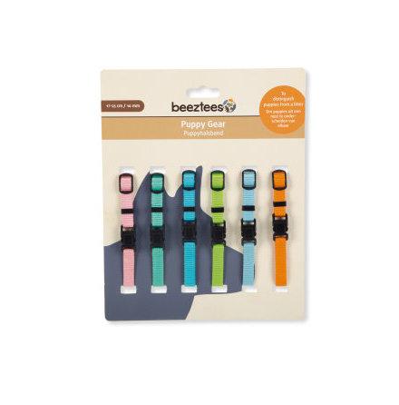 Halsband valp mixade färger 6-pack 17-25 cm