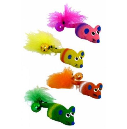 Leksaksmus katt latex 11 cm olika färger