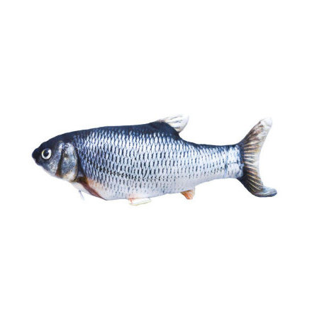 Kattleksak sprattlande fisk 30 cm mört eller gräskarp