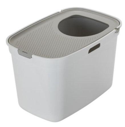 Kattlåda TopCat vit/grå 59x39x38 cm