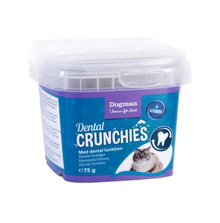 Dental crunchies kattgodis 75g, Dogman